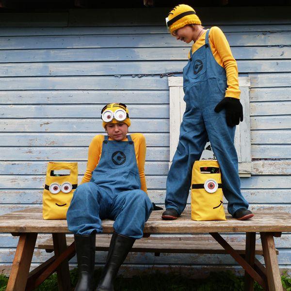 Minions-Kostüme selber machen - Links zu Nähanleitungen.