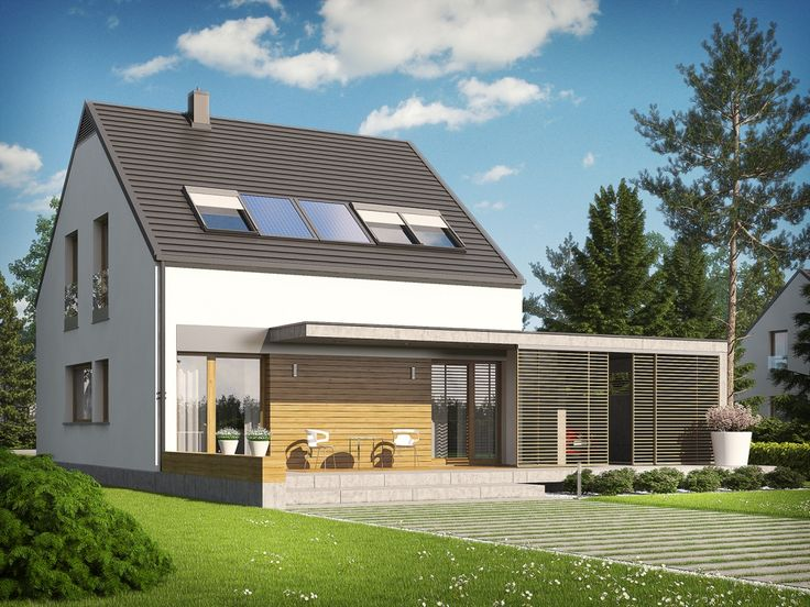 DOM.PL™ - Projekt domu AC E8 ENERGO PLUS CE - DOM AF6-45 - gotowy projekt domu