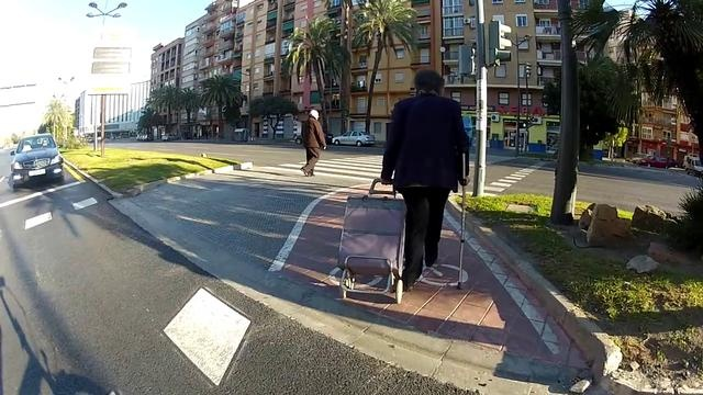 Carril bici Valencia by elías ibáñez. Valencia has a fairly adequate network of bike paths around town.
