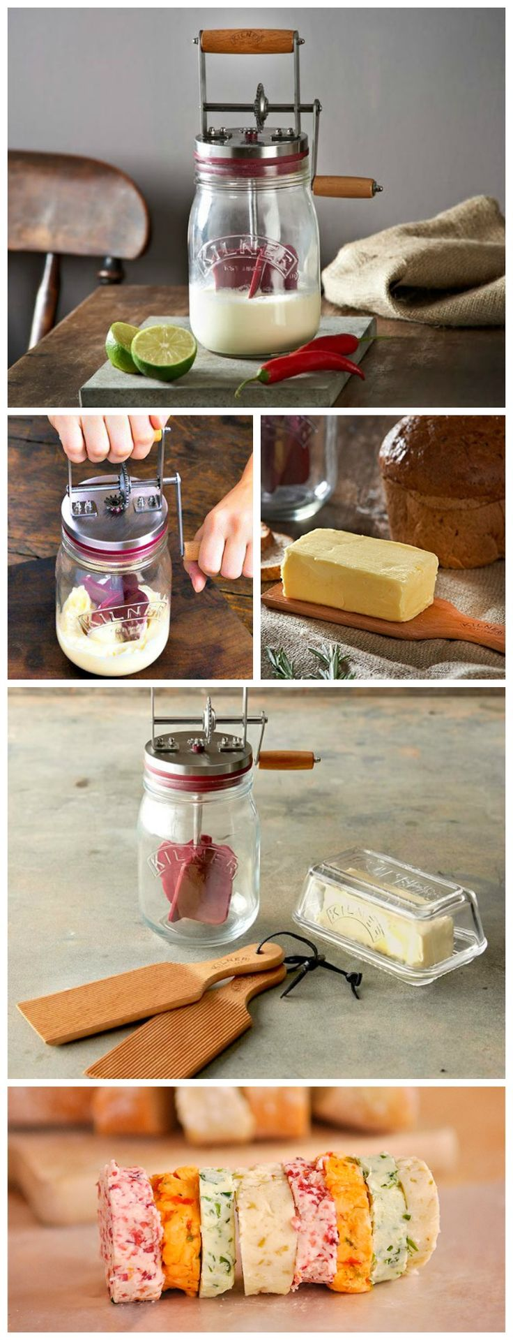 The Kilner Butter Churner gives anyone the opportunity to make delicious handmade butter at home in as little as 10 minutes. #butter #homemade