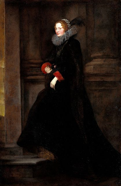 Portrait of Marchesa Geronima Spinola, circa 1624 by Sir Anthony van Dyck (Flemish, 1599-1641)