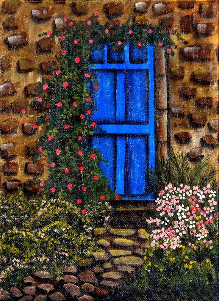 Blue Door Garden Marian Allen. & 17 Best images about pintura on Pinterest | Gardens Cottages and ... Pezcame.Com