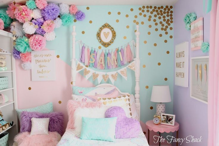 If You Re Searching For Girl Bedroom Ideas Think About What Your Daughter Loves And See Their Bed Pastel Girls Room Teenage Girl Bedroom Diy Diy Girls Bedroom