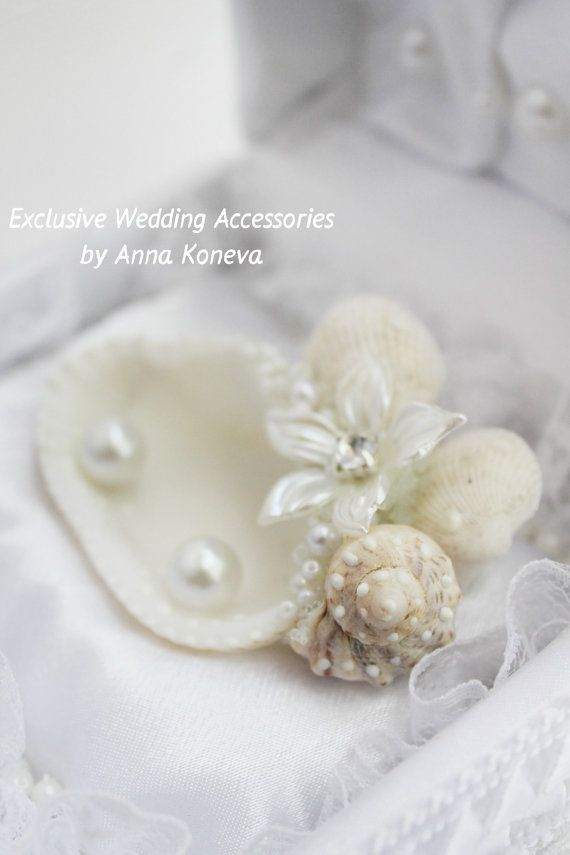 Seashell Wedding Ring Holder Ring bearer #pillow alternative Wedding Ring Pillow Bearer Ring Pillow Beach Ring Pillow ring bearer  This is one of my proposals….  Size:  6 in... #ideas #inspiration #instagram #bridal #picoftheday