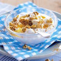 Yum! Greek Yogurt with muesli, nuts and honey