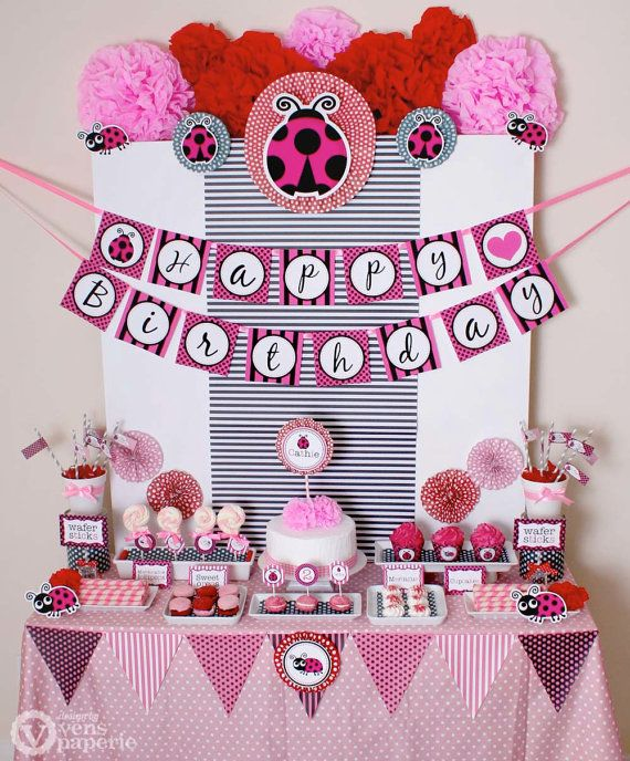The 25 best Pink ladybug party ideas on Pinterest Pink ladybug