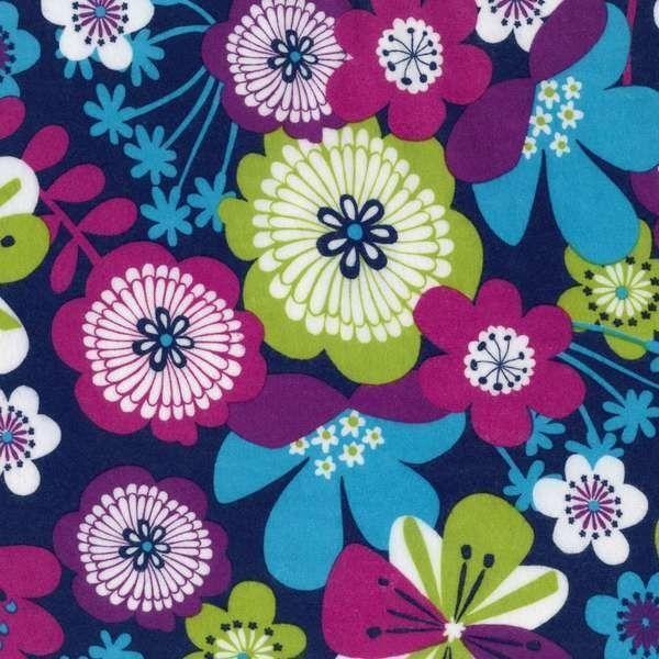 Robert Kaufman - Bright Floral Flannel - cotton fabric