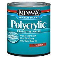 Gloss, quart - Mixwax Polycrylic Protective Finish Water Based