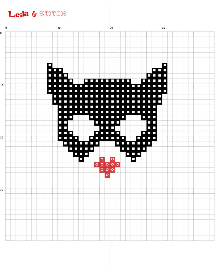 Free catwoman mask cross stitch chart pattern Visit me on etsy at www.etsy.com/au/shop/leilaandstitch or find me on instagram leila.and.stitch :-)