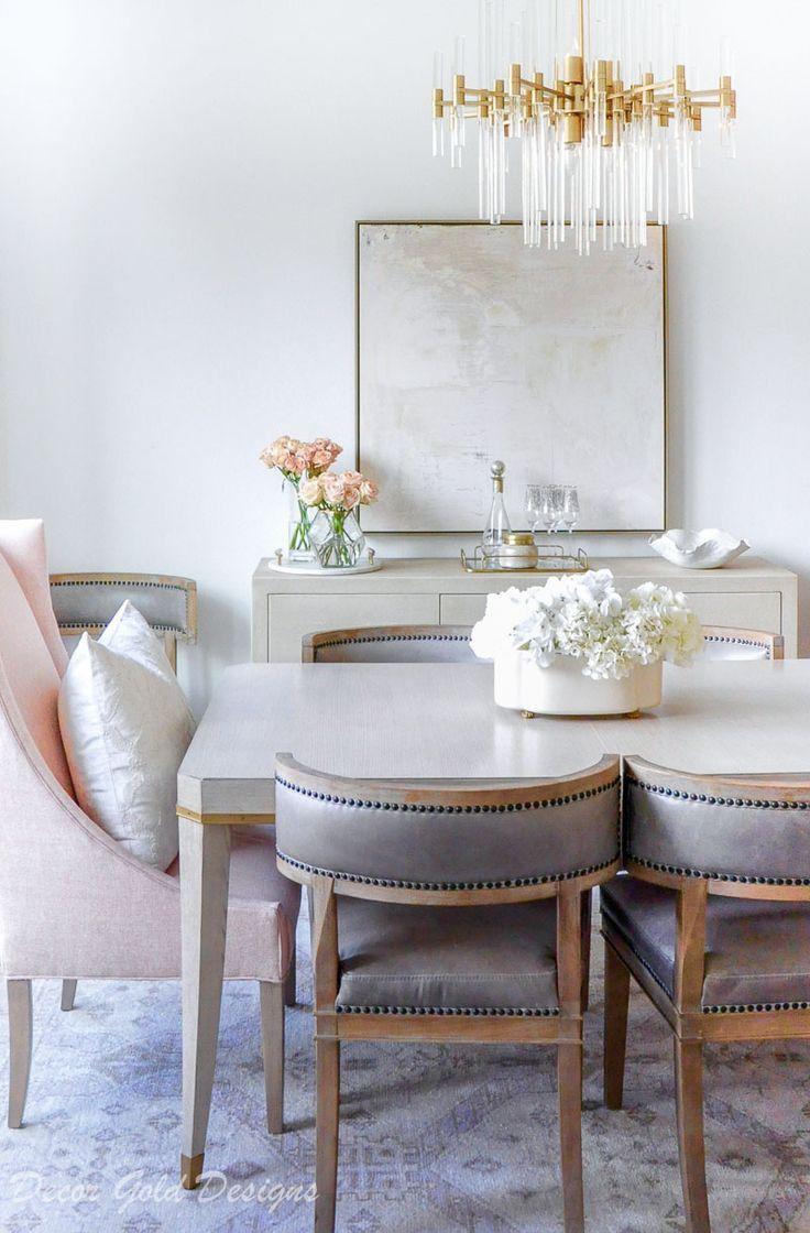 Winter Home Tour Decor Gold Designs Neutral Dining Room Grey Dining Room Dining Room Design