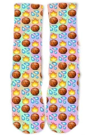 Basketball Emoji Socks