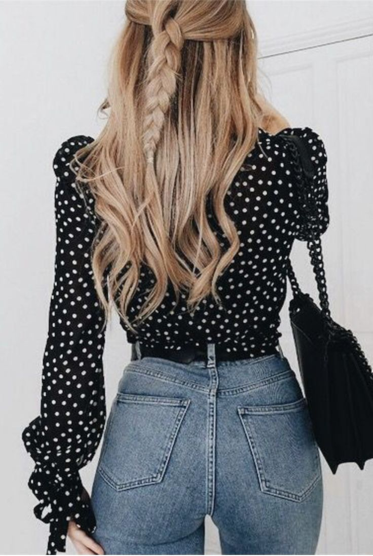I N S T A G R A M @EmilyMohsie Formal Hairstyle n Blouse over Jeans, @byrdiebeauty via @sunjayjk