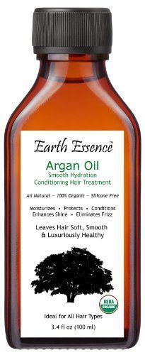Organic Argan Oil Hair Treatment 3.4 Fl Oz - All Natural Formula - Fragrance Free - Silicone Free - Conditions, Strengthens and Smoothes Hair - Eliminates Frizz - Soothes Dry, Itchy Scalp - 100% Satisfaction Guaranteed - http://essential-organic.com/organic-argan-oil-hair-treatment-3-4-fl-oz-all-natural-formula-fragrance-free-silicone-free-conditions-strengthens-and-smoothes-hair-eliminates-frizz-soothes-dry-itchy-scalp-100-satisf/