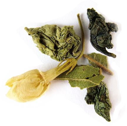 Midnight Blossom Oolong Tea from Tielka - sorbet citrus with softly complex floral and vegetal notes.