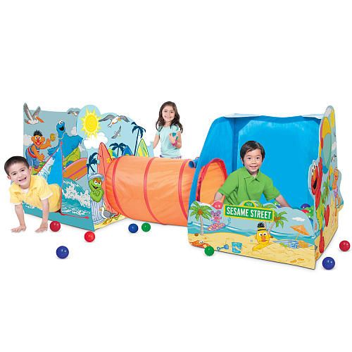 Sesame Street Toys For Toddlers : Sesame street playville play tent toys