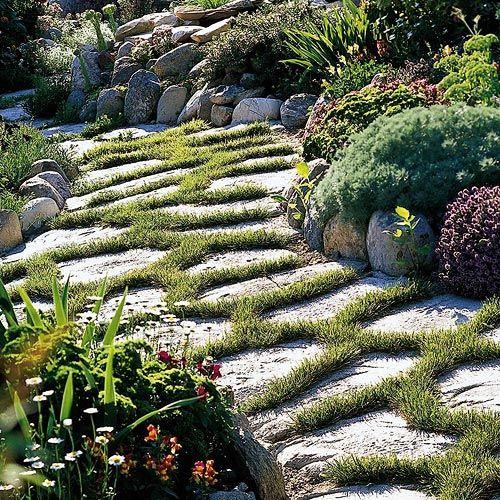 25 Lovely Diy Garden Pathway Ideas: 25+ Best Ideas About Stepping Stone Walkways On Pinterest