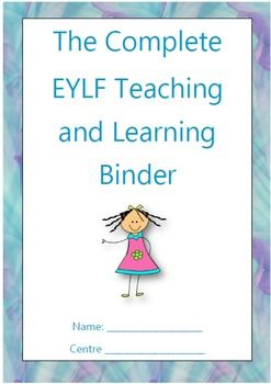 This resource contains everything you will need to run your early education classroom. All you need to do is print the required amount of each page, insert into a folder and it will be ready to go, keeping you organised and ready for teaching. It contains pdf documents and editable word documents for you to type straight into. The EYLF Binder contains the following valuable documents: List of EYLF Outcomes List of Activities per EYLF