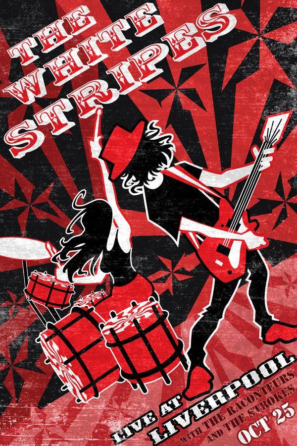 White Stripes gig poster