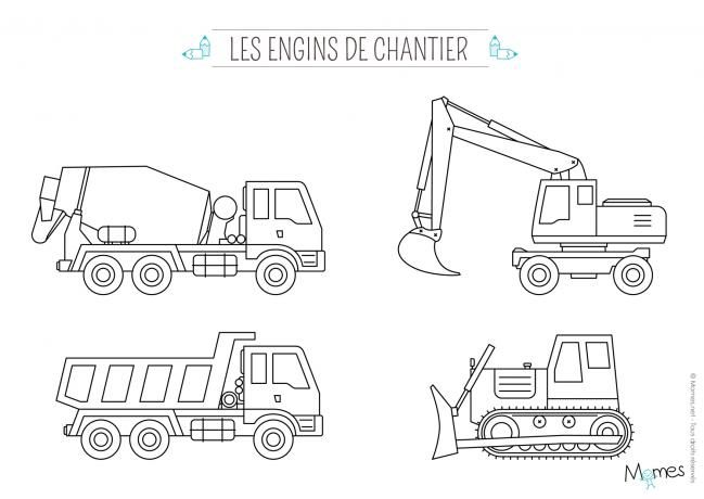 Coloriage A Imprimer Tractopelle.Coloriage Camion Coloriage Camion Dessin Camion Et