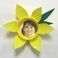 Daffadill photo magnet craft for #mothersday (warning- site has audio!)