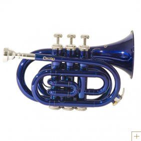 Blue Pocket Trumpet... I want to get a pocket trumpet so bad...