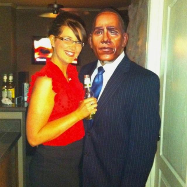 Sarah Pailin and Obama
