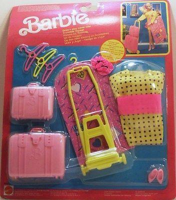BARBIE-ABBIGLIAMENTO CON SET DA VIAGGIO E ACCESS0RI-MATTEL 8745-ANNO 1999   eBay