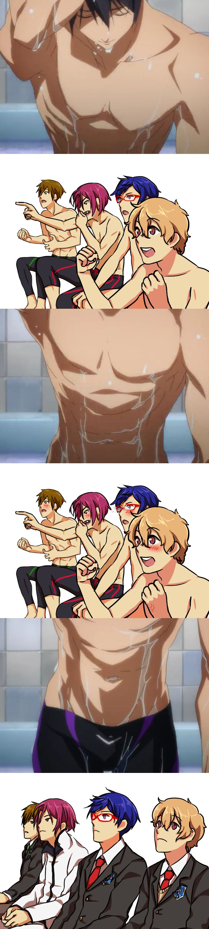 Free! ~~~ OMG, did you see Rei's glasses shattering?! ROFLMAO!!