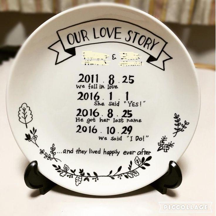 200円で格安DIYできる♡お皿にふたりの歴史を刻む〔ラブストーリーディッシュ〕って知ってる?*   marry[マリー]