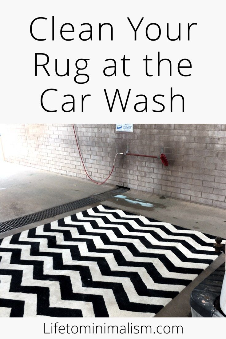 Clean Your Rug At The Car Wash With