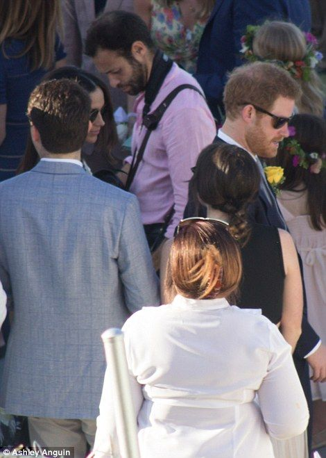 PICTURE EXCLUSIVE: Meghan Markle and Prince Harry at friend's wedding #dailymail