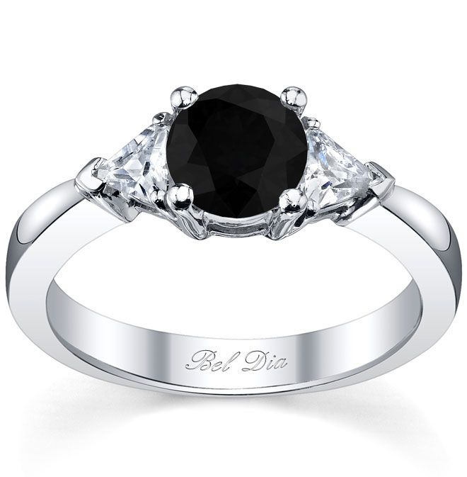 stone white wedding three black ring engagement rings unusual diamond and
