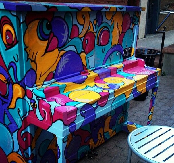 Painted Piano for a Childrens Hospital!