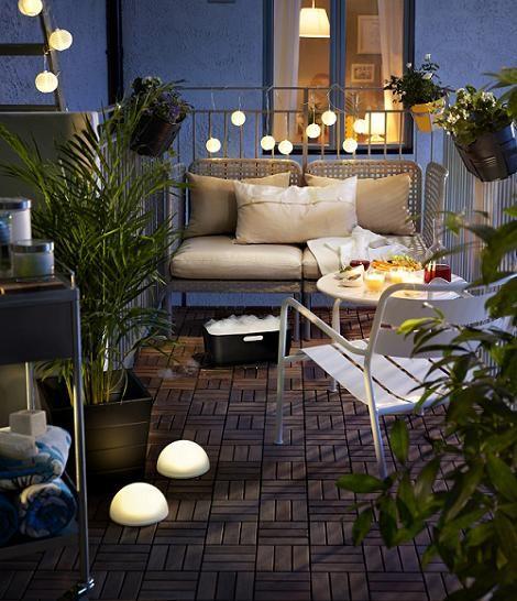 Ikea terraza terraza pinterest ikea terrazas y balcones for Decorar porche ikea