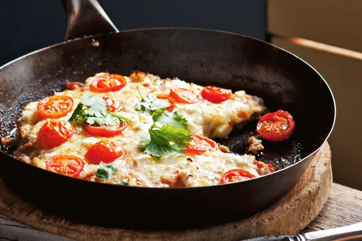 No pizza base? No problem! We've got you covered with this dish. Lamb mince with hints of coriander and cumin makes a great base for a cheesy topping.
