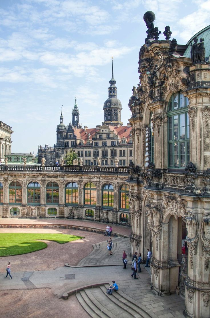 Dresden Castle or Royal Palace, Dresden, Germany is known for the different architectural styles employed, from Baroque to Neo-renaissance.  It was built between 1533 and 1899.  Today, the residential castle is a museum complex.