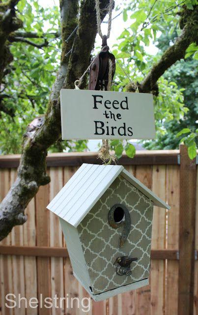 shelstring blog: From Planter to Bird House