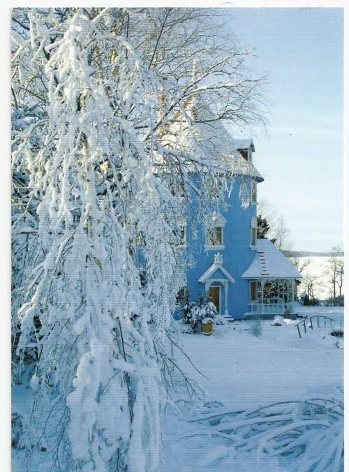 Moomin house in winter.