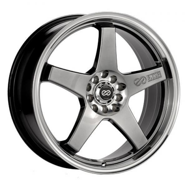 18 Inch EV5 HYPERBLACK WHEEL MACHINE LIP Rim Wheel (Rim) and Tire Packages for 2011 HONDA CIVIC Si