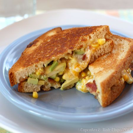 The Bug's Ultimate Bacon, Corn & Avocado Grilled Cheese... Sometimes I think I need a board just for grilled cheese