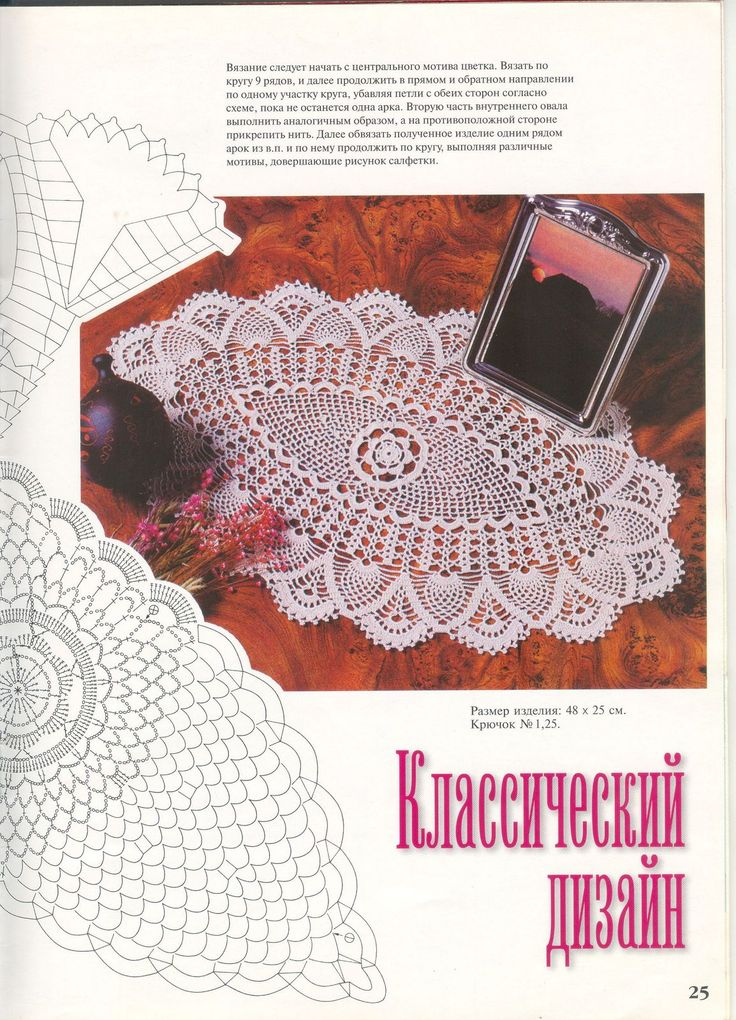 . Napkins oval and elongated. Collection №11 - all in openwork ... (crochet) - Country Mom