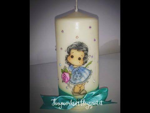 Tutorial decorare una candela con i timbri Magnolia - YouTube