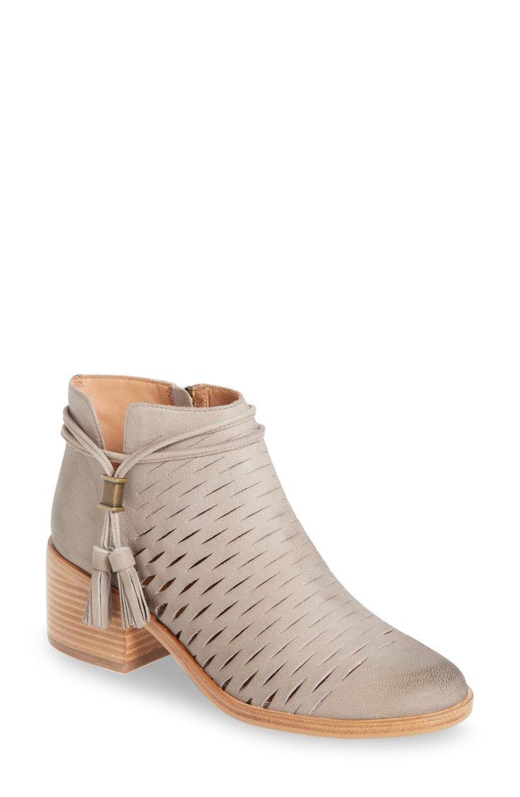 slim slits + stacked low heel