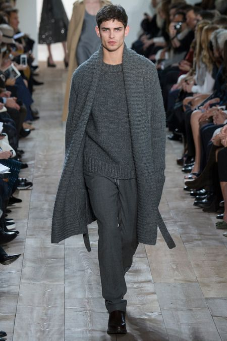 Mens hand knit coat cardigan turtleneck sweater by BANDofTAILORS