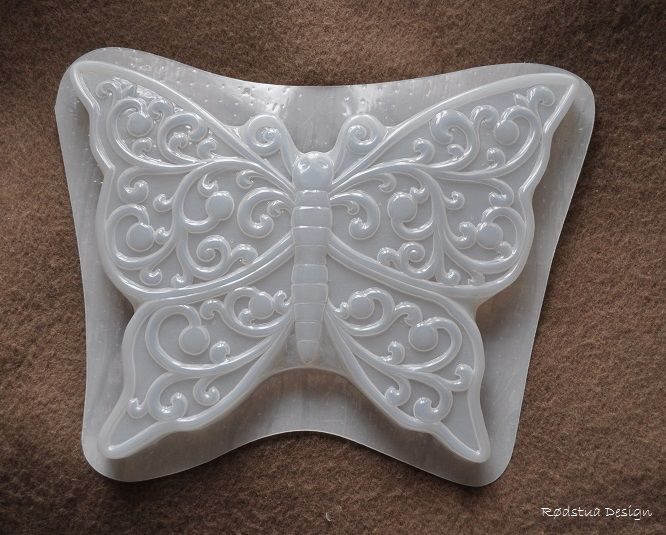 Stor støpeform. Nydelig sommerfugl med mange flotte detaljer.