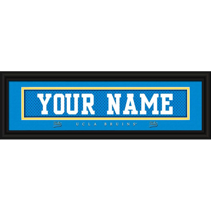 """UCLA Bruins 8"""" x 24"""" Personalized Nameplate - $31.99"""
