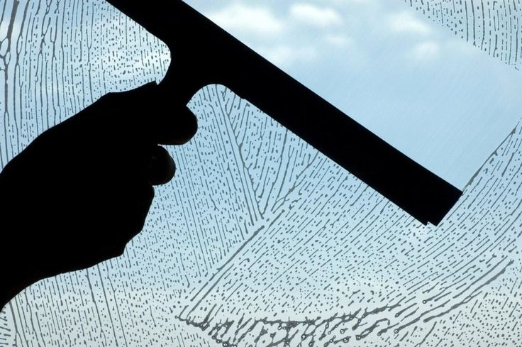 Use a squeegee to clean windows instead of paper towels.