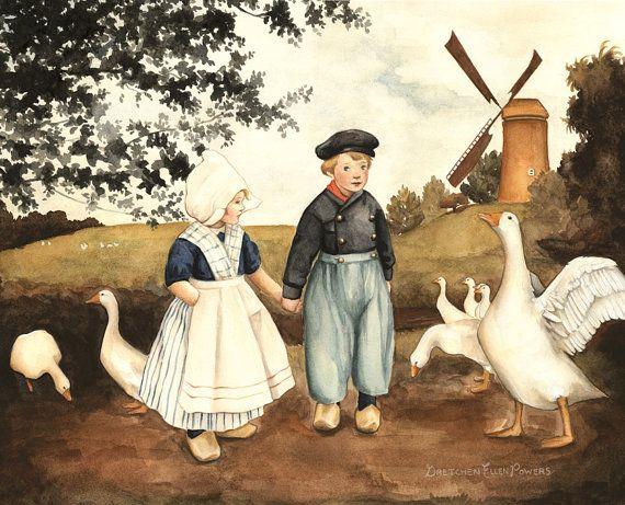 Grimm's Fairy Tale: Hansel & Gretel Print 10 x door TheBloomingHare