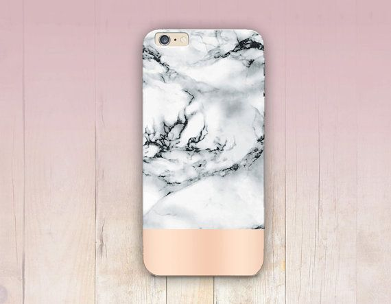 Rose Gold Marble Print Phone Case. Lovely