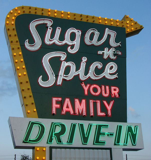 old signs - Sugar-n-Spice Drive In - by finsbry